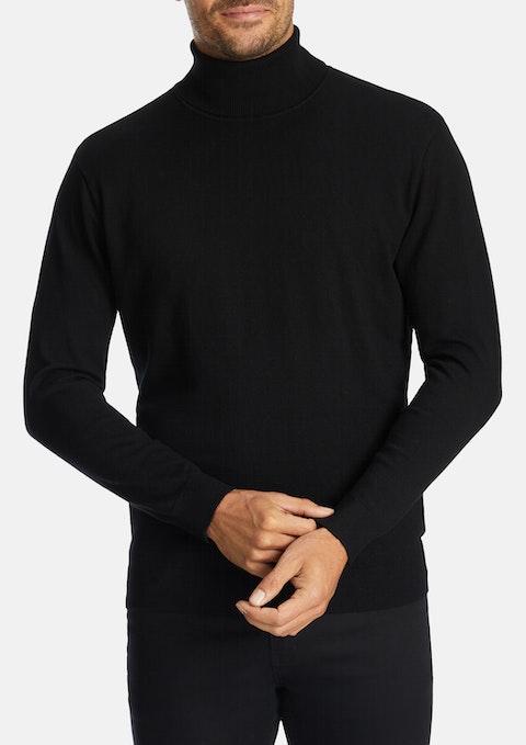 Black Casey Rollneck Knit