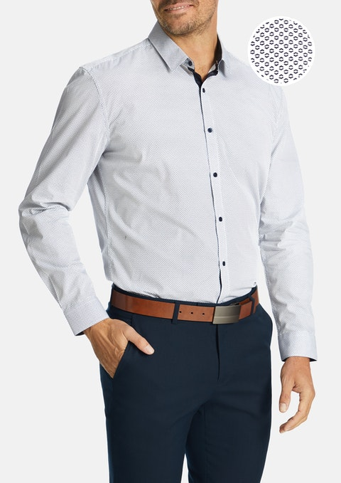 White Lewis Slim Shirt