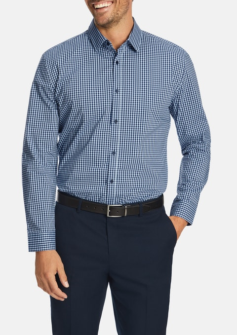 Blue Burrows Slim Stretch Shirt