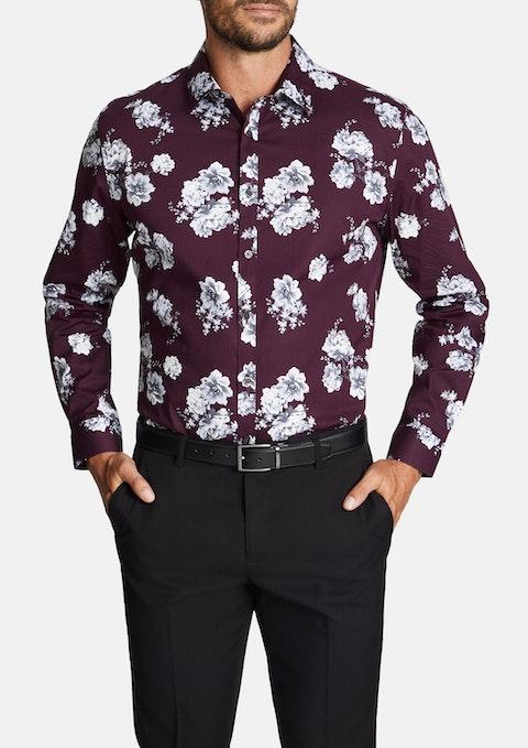 Wine Clermont Stretch Shirt