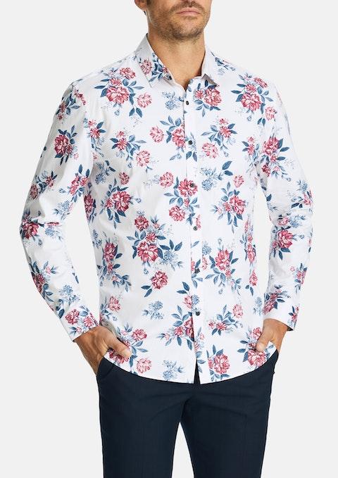 White Vinny Slim Stretch Shirt