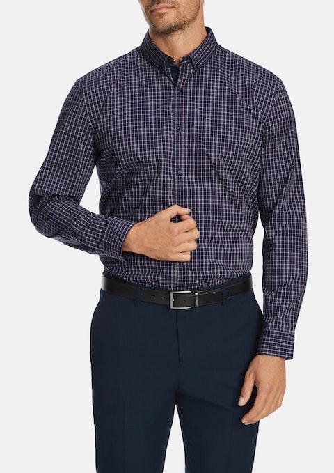 Navy Dempsey Slim Stretch Shirt