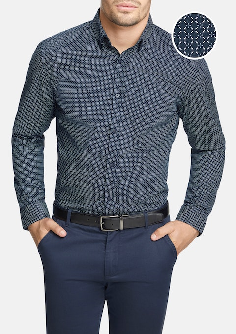Navy Harmon Slim Shirt