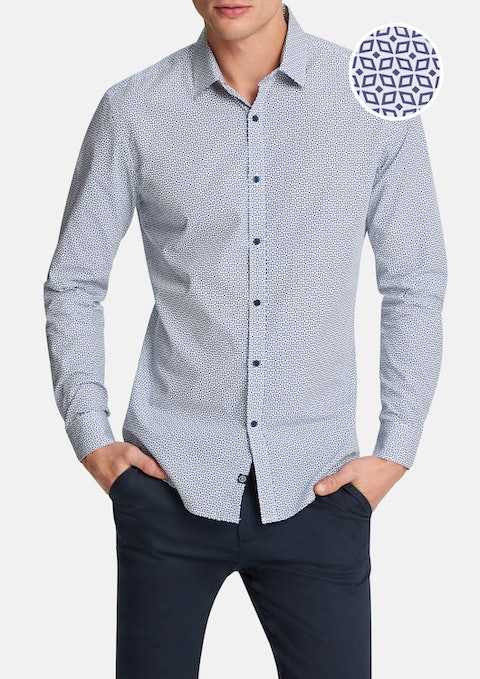 Navy Archy Slim Shirt