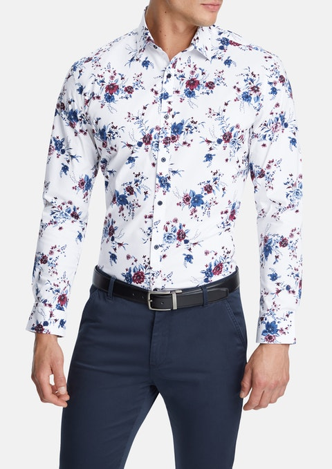 White Vaughan Slim Stretch Shirt