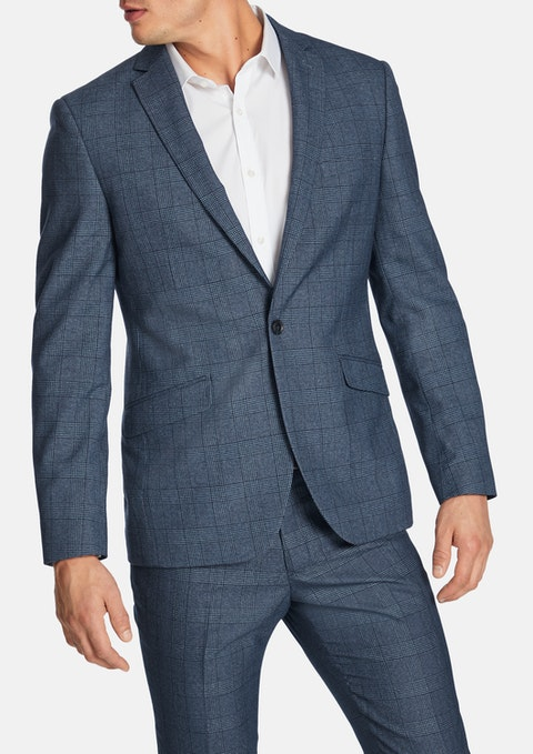Blue Fontana Slim Suit Jacket
