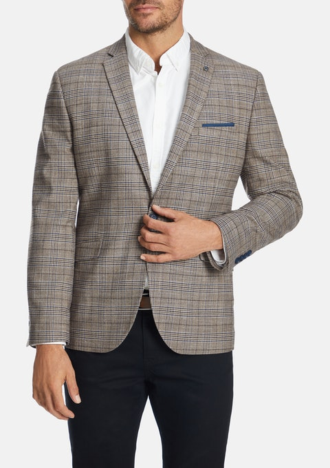 Brown Bromley Slim Blazer
