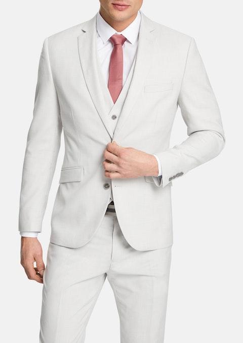 Silver Trinity Slim Suit Jacket