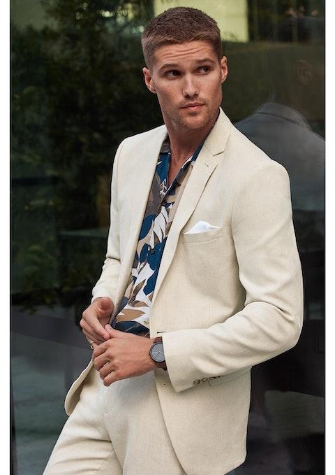 Sand Scarborough Slim Suit Jacket