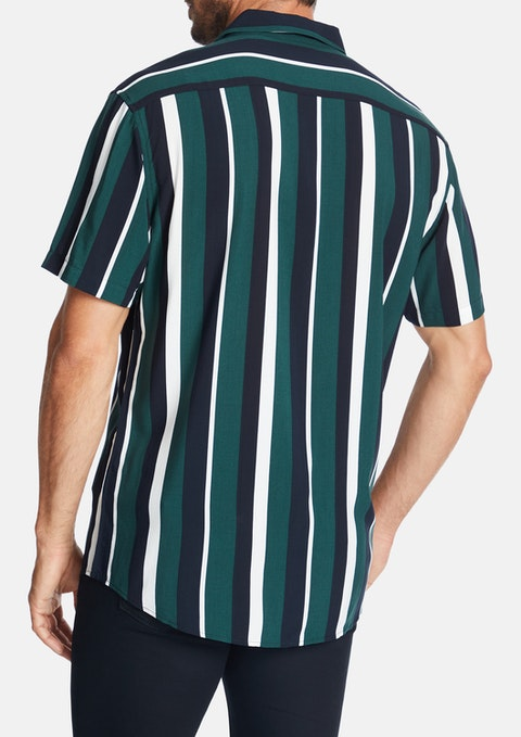 Green Denver Stripe Shirt