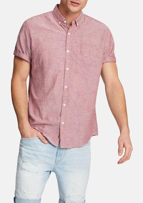 Berry Albany Linen Blend Shirt