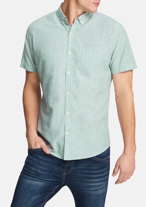 Sage Albany Linen Blend Shirt