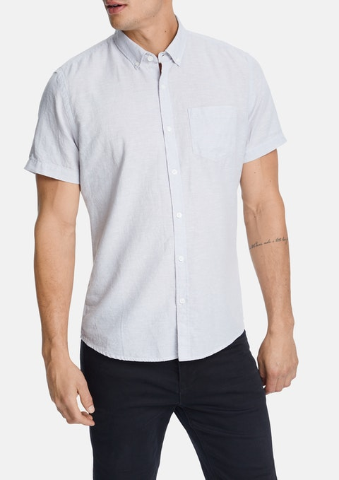 Silver Albany Linen Blend Shirt