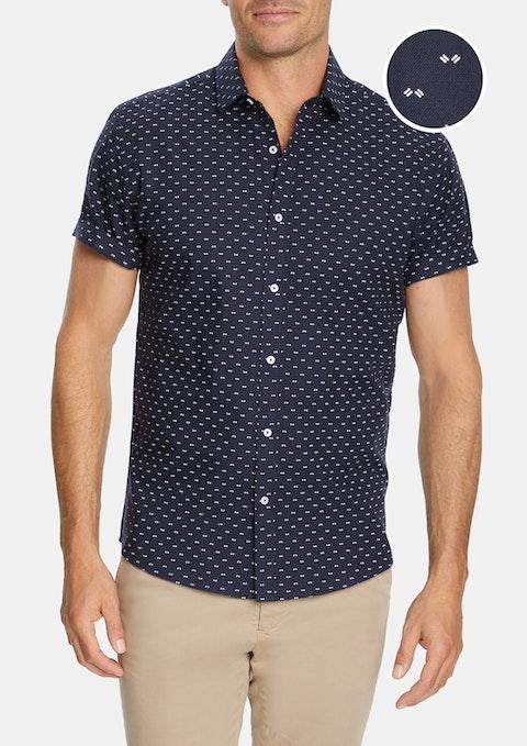 Navy Hayford Slim Shirt