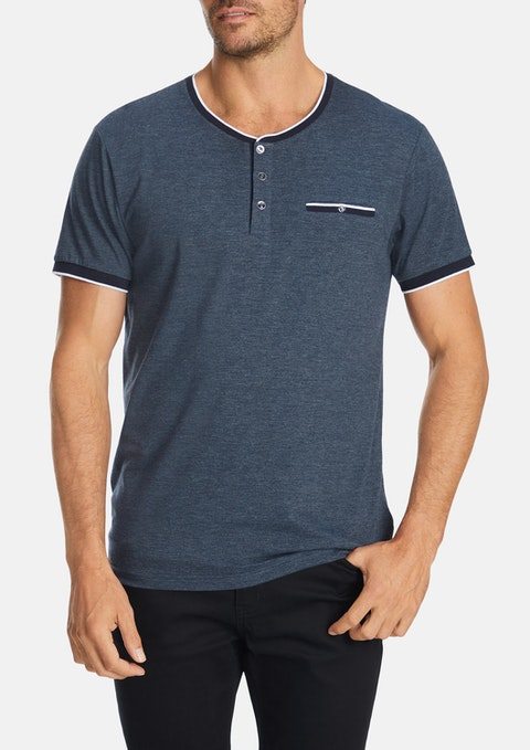 Dark Blue Norman Henly Tee