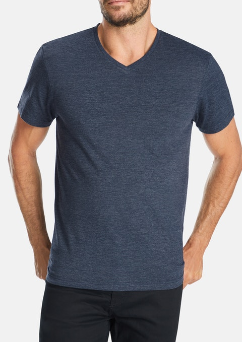 Denim Marle V-neck Tee