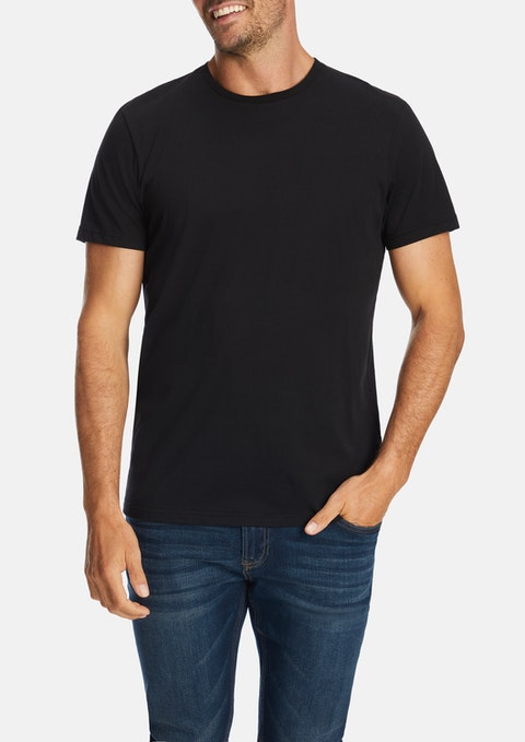 Black Soft Touch Crew Tee