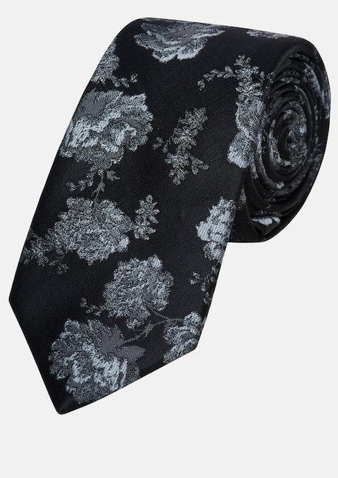 Grey Jacquard 6cm Tie