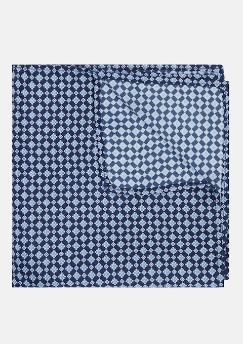 Navy Geo Pocket Square