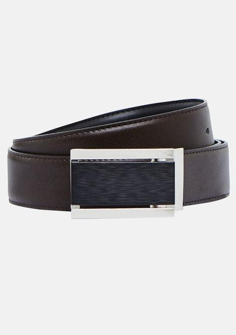 Black Chocolate Oakford Reversible Belt