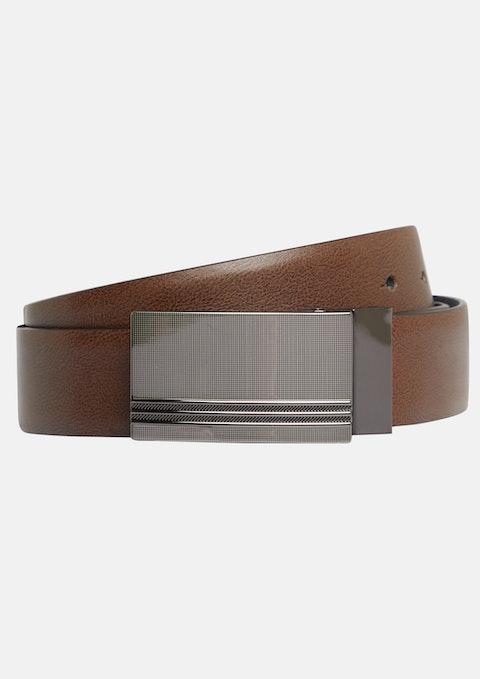 Black Tan Hanley Reversible Belt