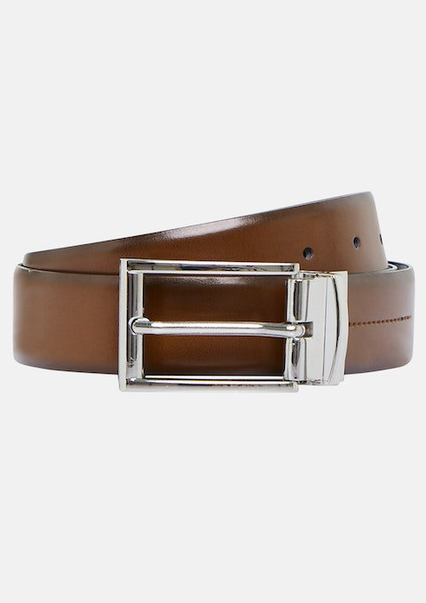 Black Tan Alexi Reversible Belt