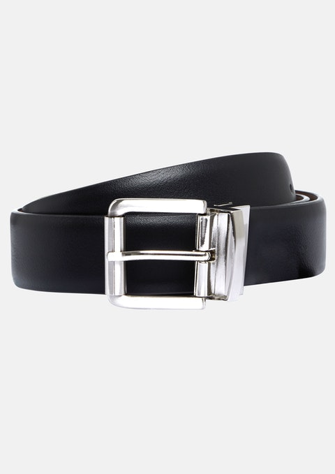 Black Tan Cobey Stretch Reversible Belt