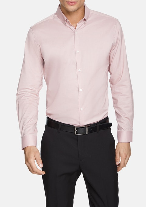 Dusty Pink Wingrove Slim Dress Shirt
