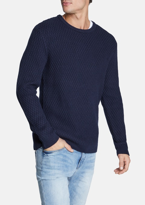 Navy Higgins Knit
