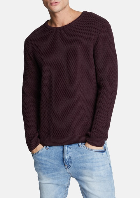 Wine Higgins Knit