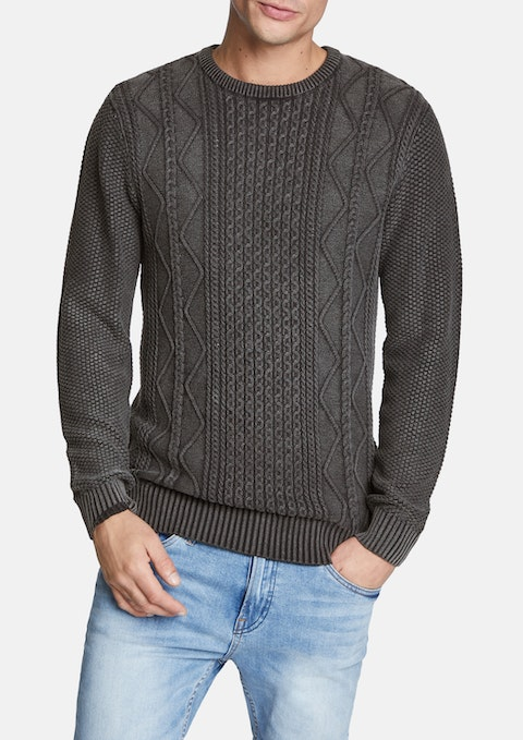 Charcoal Dominic Knit