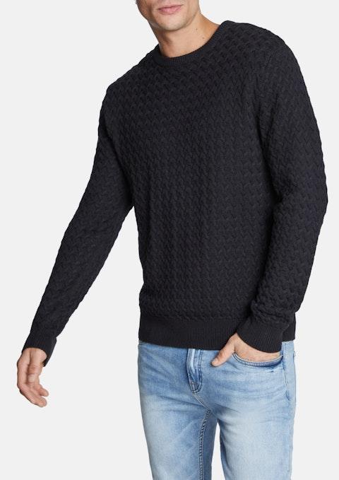 Black Randolph Knit