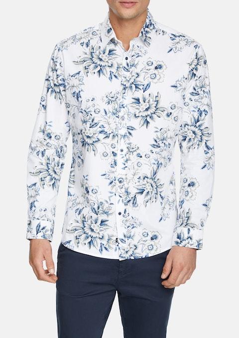 White Alden Slim Shirt