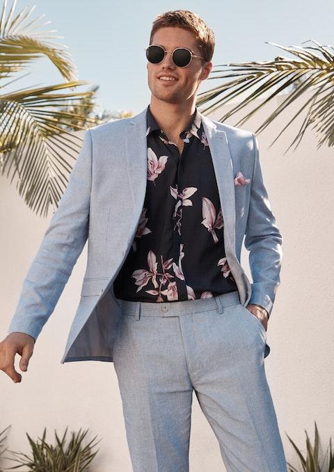 Light Blue Scarborough Slim Suit Jacket