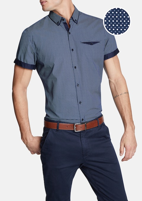 Navy Metropolis Slim Shirt