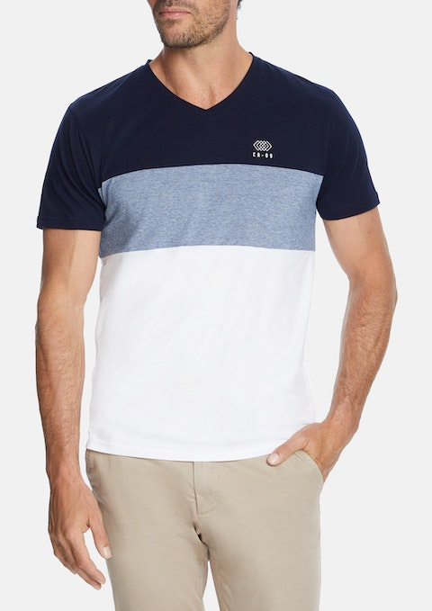 Blue Alpine V Neck Tee