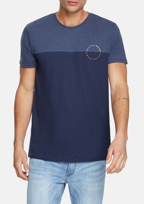 Navy Brayfield Crew Tee